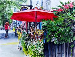 Terrasse sur la rue Saint-Denis
