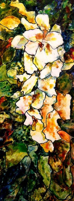 Abstract aquarelle sur yupo