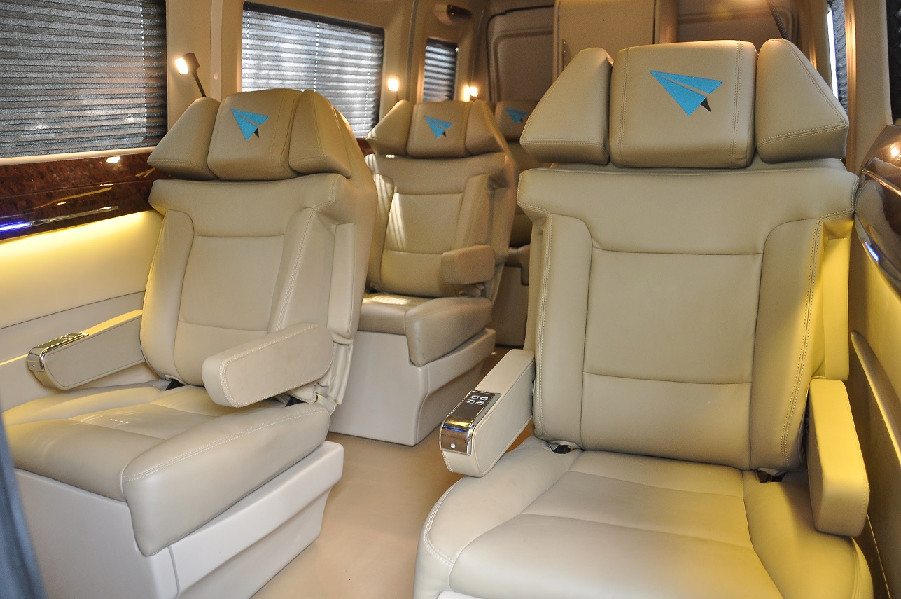 Interior Seating, with 120° recline