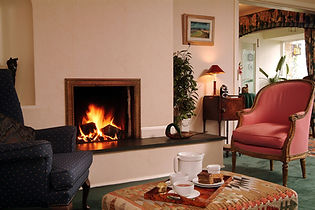 Drawing room fireside Shallowdale House