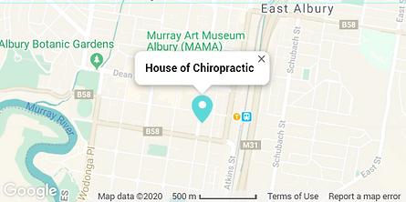 map house of chiropractic albury wodonga