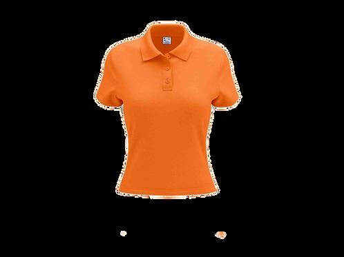 Camisa Polo Feminina Laranja - 6 peças