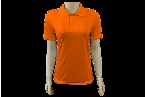 Camisa Polo Feminina Dry Fit - Laranja Fluor - Kit c/ 6 peças