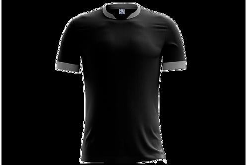 Camiseta Preta e Cinza Claro - 6 peças