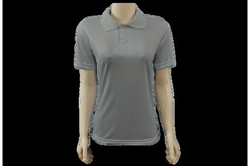 Camisa Polo Feminina Dry Fit - Cinza Claro - Kit c/ 6 peças