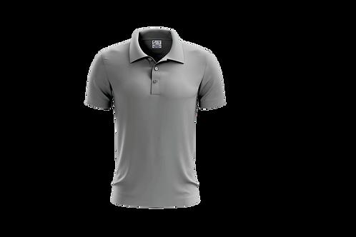 Camisa Polo Masculina Cinza Claro - 6 peças