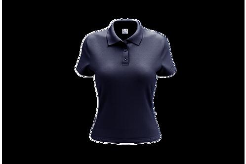 Camisa Polo Feminina Azul Marinho -Dry-fit - 6 peças