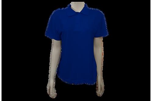 Camisa Polo Feminina - Piquet - Azul Royal - Kit c/6 peças