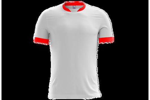 Camiseta Branca e Vermelha - 6 peças