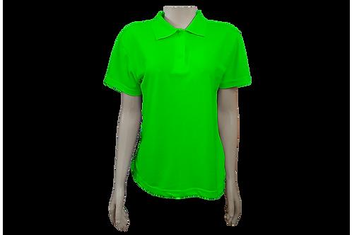 Camisa Polo Feminina - Piquet - Verde Limão - Kit c/6 peças