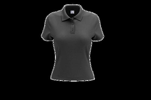 Camisa Polo Feminina Cinza Chumbo - 6 peças