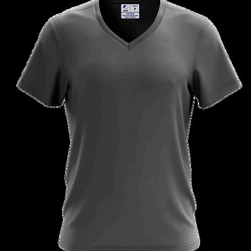 Camiseta Gola V Cinza Chumbo - 6 peças