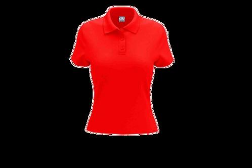 Camisa Polo Feminina Vermelha - 6 peças