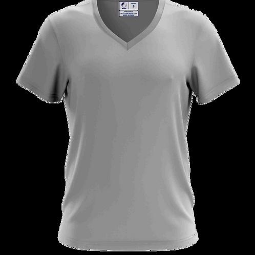 Camiseta Gola V Cinza Claro - 6 peças