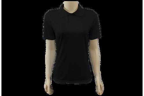 Camisa Polo Feminina Dry Fit - Preta - Kit c/ 6 peças