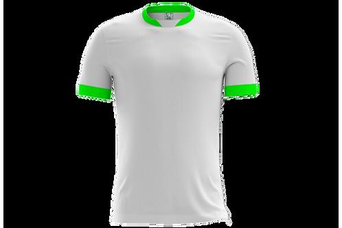 Camiseta Branca e Verde Limão - 6 peças