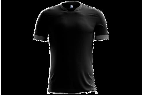 Camiseta Preta e Cinza Chumbo - 6 peças
