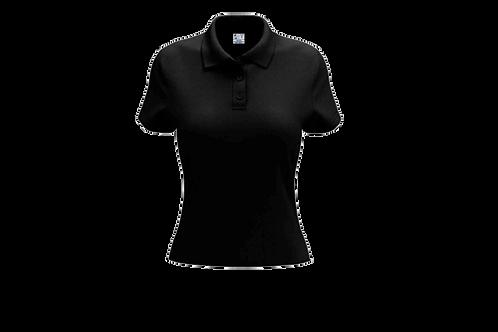 Camisa Polo Feminina Preta - 6 peças
