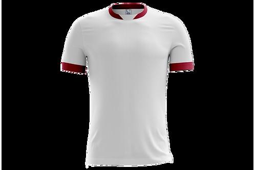 Camiseta Branca e Vinho - 6 peças