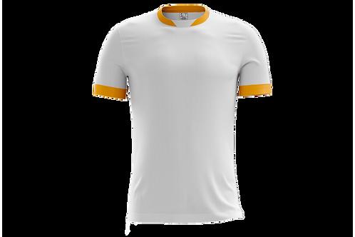Camiseta Branca e Dourada