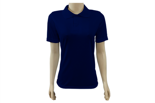 Camisa Polo Feminina Dry Fit - Azul Marinho - Kit c/ 6 peças