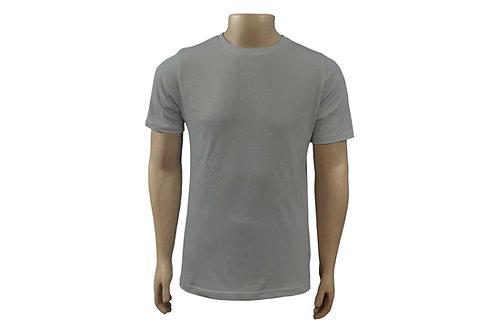 Camiseta Básica - Masculina - Algodão - Cinza Claro - 6 peças