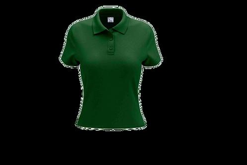 Camisa Polo Feminina Verde Bandeira - 6 peças