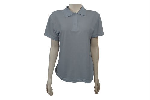 Camisa Polo Feminina - Piquet - Cinza Claro - Kit c/6 peças