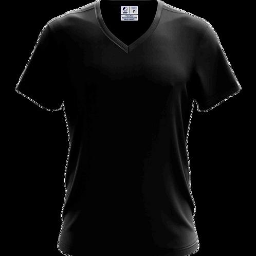 Camiseta Gola V Preta - 6 peças