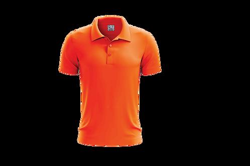 Camisa Polo Masculina Laranja Flúor - 6 peças