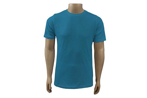 Camiseta Básica - Masculina - Algodão - Azul Cobalto - 6 peças