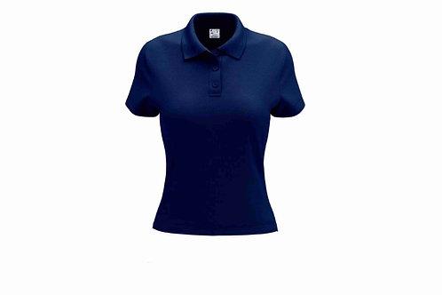Camisa Polo Feminina Azul Marinho - 6 peças
