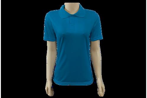 Camisa Polo Feminina Dry Fit - Azul Cobalto - Kit c/ 6 peças