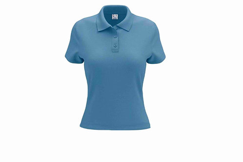 Camisa Polo Feminina Celeste - 6 peças