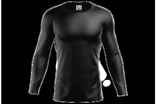 Blusa Segunda Pele Dry-fit - Preta - 6 peças