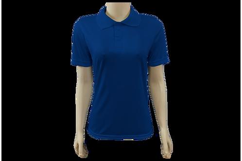Camisa Polo Feminina Dry Fit - Azul Royal - Kit c/ 6 peças