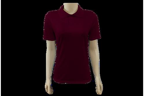 Camisa Polo Feminina Dry Fit - Vinho - Kit c/ 6 peças