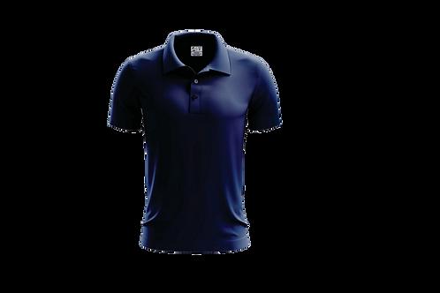Camisa Polo Masculina Azul Marinho - Dry-fit - 6 peças