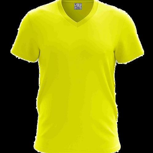 Camiseta Gola V Amarelo Canário - 6 peças