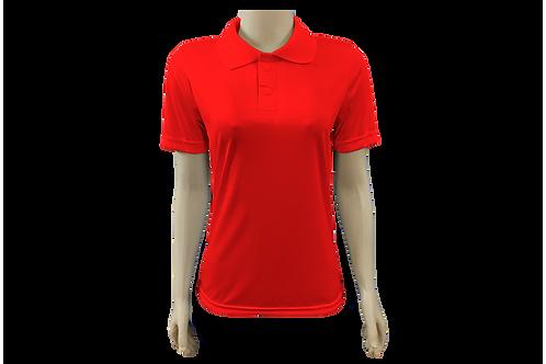 Camisa Polo Feminina Dry Fit - Vermelha - Kit c/ 6 peças