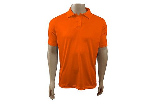 Camisa Polo Masculina - Laranja Flúor - Dry-Fit - 6 peças