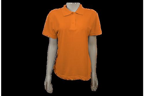 Camisa Polo Feminina - Piquet - Laranja - Kit c/6 peças