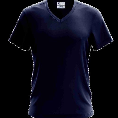 Camiseta Gola V Azul Marinho - 6 peças