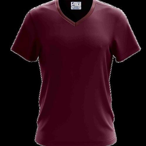 Camiseta Gola V Bordô- 6 peças