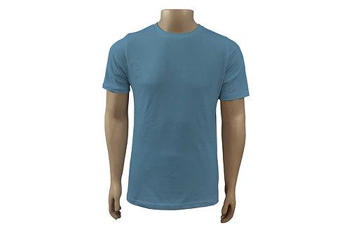 Camiseta Básica - Masculina - Algodão -  Azul Celeste - 6 peças