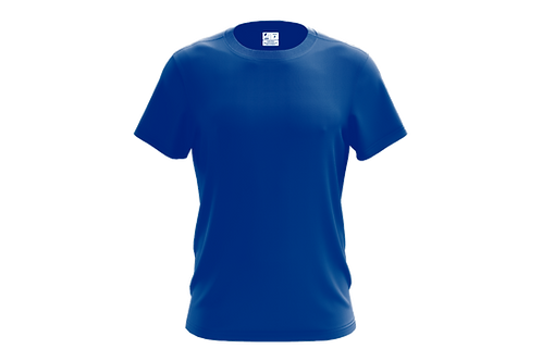 Camiseta Básica Azul Royal - 6 peças
