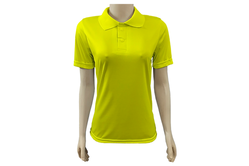 Camisa Polo Feminina - Dry-Fit - Amarelo Canário - Kit c/6 peças