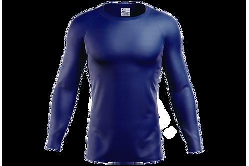 Blusa Segunda Pele Dry-fit - Royal - 6 peças