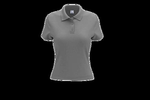 Camisa Polo Feminina Cinza Claro - 6 peças