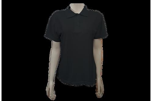 Camisa Polo Feminina - Piquet - Preta - Kit c/6 peças